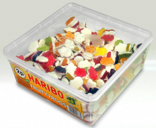 E57 2p  HARIBO TUB FRUITY FROGS